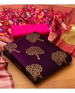 jumble of 8 dress material Banarasi Silk Dress 49