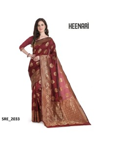 BUNDLE OF 18 WHOLESALE SAREE CATALOG     Heenari Banarasi Vol 3