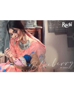 BUNDLE OF 20 WHOLESALE SAREE CATALOG  Blueberry- 15th Edition. BY RUCHI SAREE