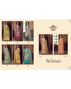 BUNDLE OF 8 WHOLESALE SALWAR SUIT CATALOG  SEHNAZ BY SKT SUITS