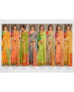 BUNDLE OF 8 WHOLESALE SAREE CATALOG VATSHALYA COTTON BY SANGAM SAREE