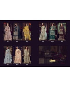 BUNDLE OF 9 WHOLESALE SALWAR SUIT CATALOG SNOW WHITE VIOLET