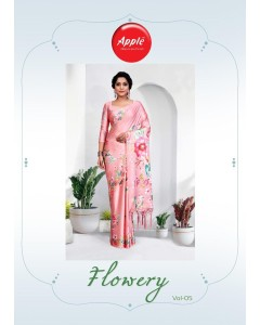 BUNDLE OF 12 WHOLESALE SAREE CATALOG    FLOWERY VOL-5 BY APPLE