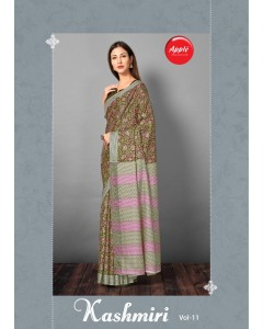 BUNDLE OF 12  WHOLESALE SAREE CATALOG   KASHMIRI VOL-11 BY APPLE