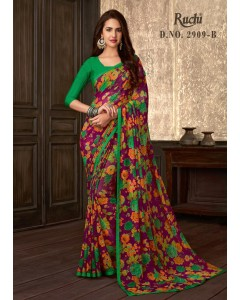 BUNDLE OF 6 WHOLESALE SAREE CATALOG . Jasmine Georgette BY Ruchi Sarees