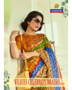 BUNDLE OF 12    WHOLESALE SAREE CATALOG   Weave celebrity brasso BY SIDDHANT