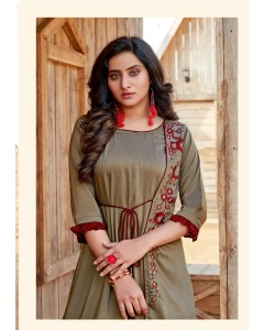 BUNDLE OF 8 WHOLESALE KURTI CATALOG Aarvi Manya Vol-24