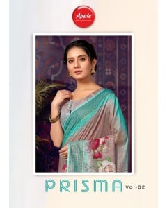 BUNDLE 8 WHOLESALE SAREE CATALOG PRISMA VOL-2 BY APPLE SAREE