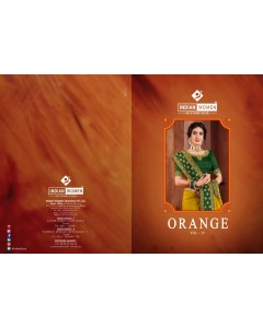 BUNDLE 8 WHOLESALE SAREE CATALOG Orange vol-15 BY INDIAN WOMAN
