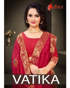 BUNDLE OF 8 WHOLESALE SAREE CATALOG  VATIKA  BY SITKA