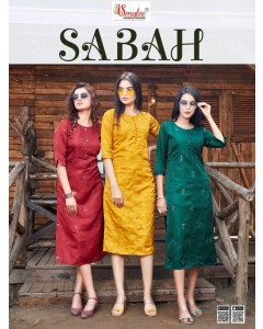 BUNDLE OF 8 WHOLESALE KURTI CATALOG SABAH BY SMYLEE
