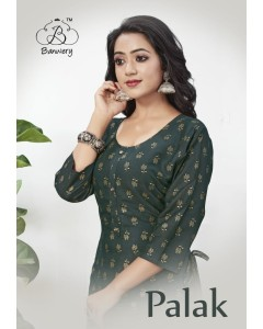 BUNDLE OF 6 WHOLESALE KURTI  CATALOG PALAK BY BANWERY