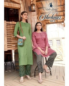 BUNDLE OF 8  WHOLESALE KURTI CATALOG : Shehnaz Vol 2 BY Ladies Flavour