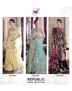 BUNDLE OF 3   WHOLESALE SALWAR SUIT CATALOG  REPUBLIC BRIDAL COLL BY M3 FASHION