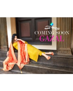 BUNDLE OF 4 WHOLESALE SALWAR SUIT CATALOG GAZAL Your choice""