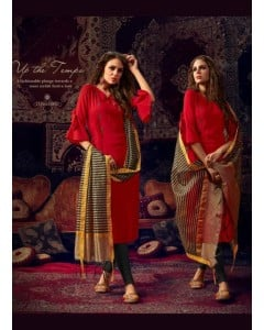 BUNDLE OF 5  WHOLESALE KURTI CATALOG TOP STITCHED