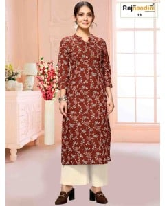 BUNDLE OF 6 WHOLESALE KURTI CATALOG 08-23 BY Rajnandini