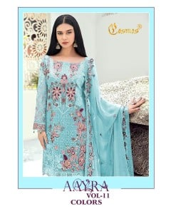 BUNDLE OF 6 WHOLESALE SALWAR SUIT CATALOG AAYRA-11 Colors  BY  COSMOS FASHION