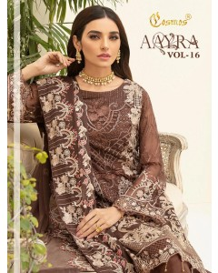 BUNDLE OF 6 WHOLESALE SALWAR SUIT CATALOG        Aayra vol 16  BY  COSMOS FASHION
