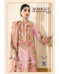 BUNDLE OF 5 WHOLESALE SALWAR SUIT CATALOG BAROQUE EMBRODERD COLLECTION VOL 2 BY SHREE FABS
