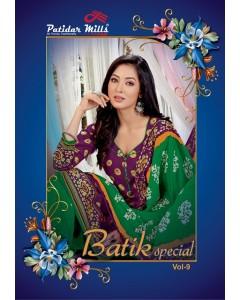 BUNDLE OF 16  WHOLESALE SALWAR SUIT CATALOG Patidar Batik Special Vol-9 BY Patidar Mills