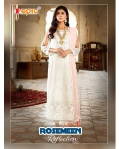 BUNDLE OF 4 WHOLESALE SALWAR SUIT CATALOG ROSEMEEN SHADES OF REFLACTION DNO :- 84001 BY FEPIC