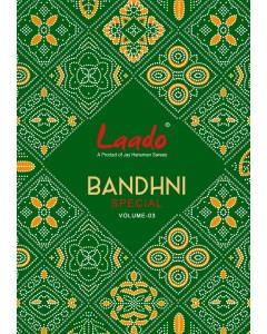 BUNDLE OF 10 WHOLESALE SALWAR SUIT CATALOG  Laado Bandhni Special VOL-3