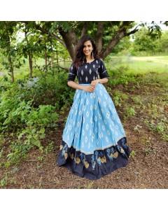 BUNDLE OF 7 WHOLESALE GOWN CATALOG  ikkat gown