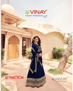 BUNDLE OF 8 WHOLESALE SALWAR SUIT CATALOG KASEESH-ATTRACTION BY VINAY FASHION