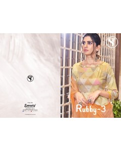 BUNDLE OF 8   WHOLESALE SALWAR SUIT  CATALOG   RUBBY-3  BY SWEETY FASHION