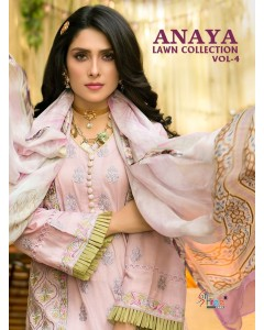 BUNDLE OF 6 WHOLESALE SALWAR SUIT CATALOG ANAYA LAWN COLLECTION VOL-04 BY SHREE FABS
