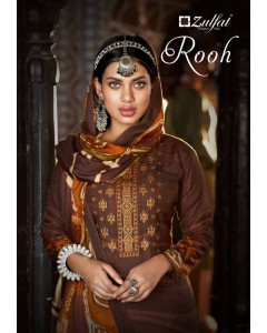 """BUNDLE  OF 10    WHOLESALE SALWAR SUIT CATALOG  ROOH BY     """"Zulfat Designer Suits"""