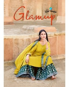 """BUNDLE OF 4    WHOLESALE SALWAR SUIT CATALOG  Glamup BY """"Your choice"""
