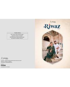 BUNDLE OF 4 WHOLESALE SALWAR SUIT CATALOG    Riwaz Vol-2 BY Amyra Designer..