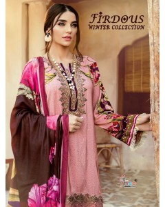 BUNDLE OF 7 WHOLESALE SALWAR SUIT  CATALOG FIRDOUS WINTER COLLECTION BY SHREE FABS