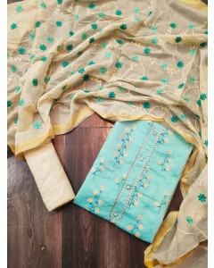 jumble of 4 dress material TCNX Chanderi 3